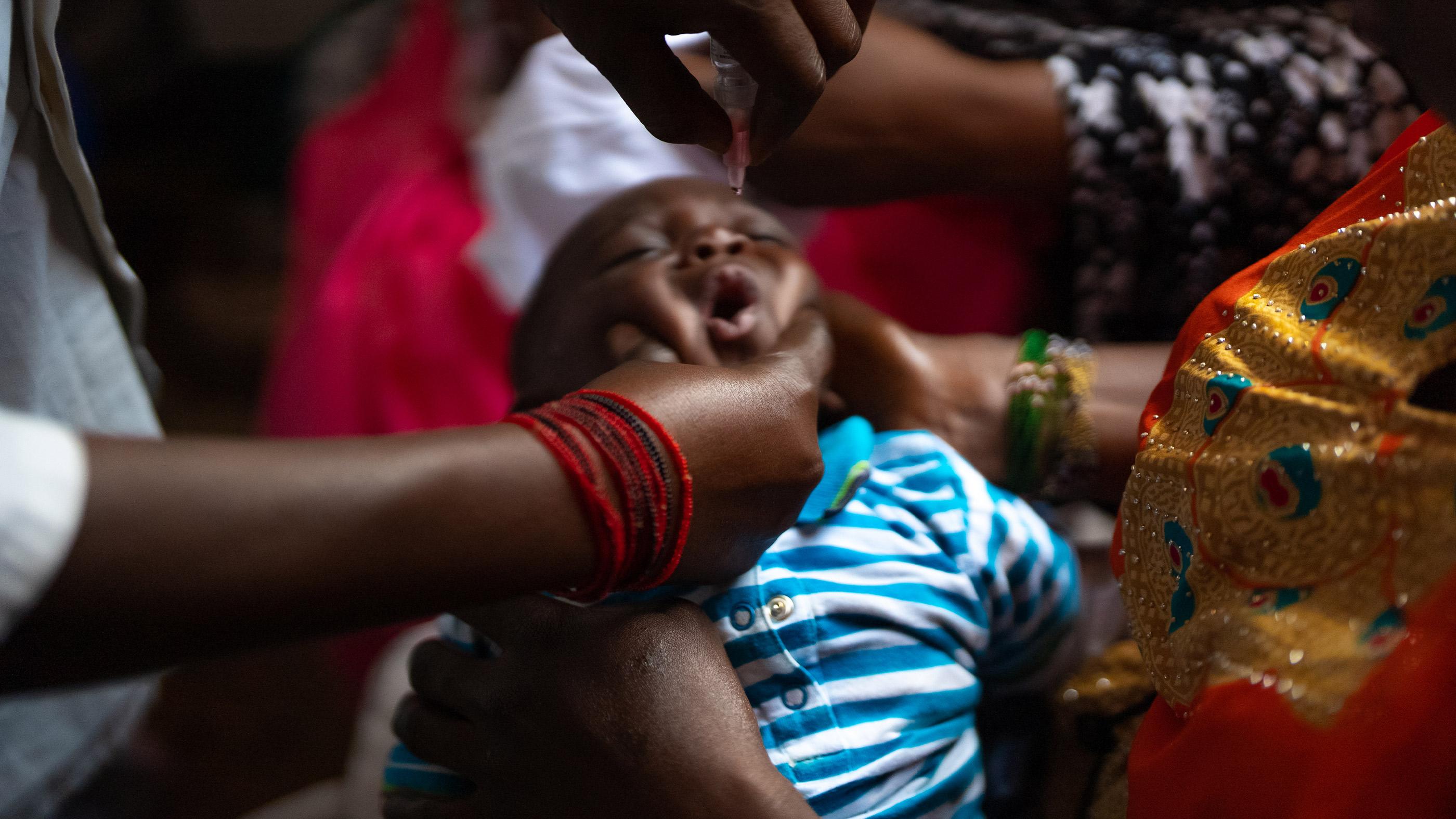 Photo aérienne d'un village au Sénégal